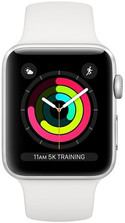 Смарт-часы Apple Watch Series 3 GPS 38mm Silver Aluminium Case with White Sport Band - Дека
