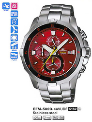 Часы CASIO EFM-502D-4AVUEF - Дека